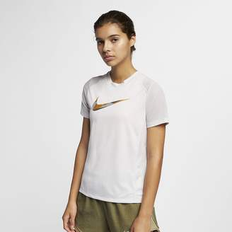 Nike Miler Women's Short-Sleeve Metallic Running Top