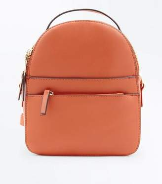 New Look Orange Convertible Strap Micro Backpack
