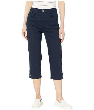 FDJ French Dressing Jeans Soft Hues Denim Suzanne Capris in Navy
