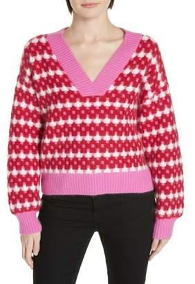 Diane von Furstenberg Rib Knit Angora Sweater