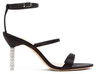 Sophia Webster Rosalind Crystal Embellished Satin Sandals - Womens - Black