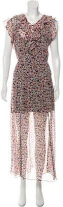 Anna Sui Printed Maxi Dress Pink Printed Maxi Dress