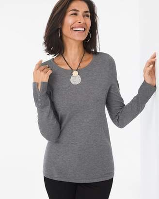 Button-Sleeve Pullover