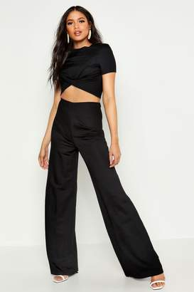 c02853992369 boohoo Black Women's Wide Leg Pants - ShopStyle
