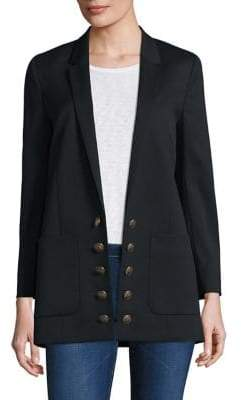 The Kooples Wool Button-Front Blazer