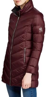 Lauren Ralph Lauren Long Quilted Packable Coat