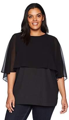 Calvin Klein Women's Plus Size S/S Ruffle TOP