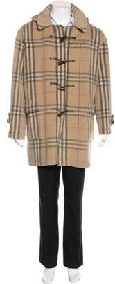 Burberry Wool House Check Toggle Coat