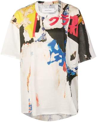 Marques Almeida Marques'almeida abstract-print loose T-shirt