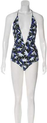 Mikoh Printed Halter Swimsuit w/ Tags