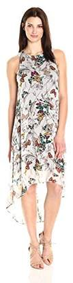 Karen Kane Women's Butterfly Hi-Lo Hem Dress