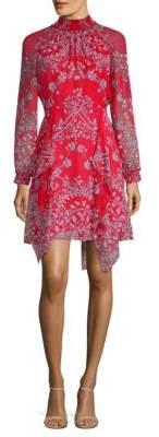 BCBGMAXAZRIA Fifi Porcelain Vines A-Line Dress