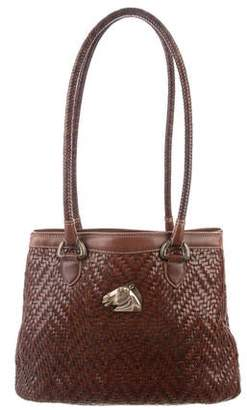Kieselstein-Cord Woven Leather Shoulder Bag