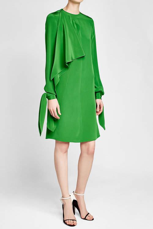 CALVIN KLEIN 205W39NYC Draped Silk Dress