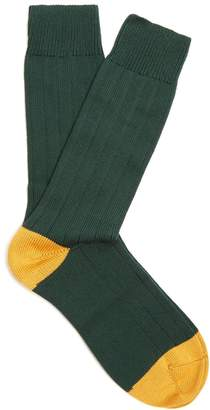 Pantherella Scott Nichol Oxford ribbed-knit socks