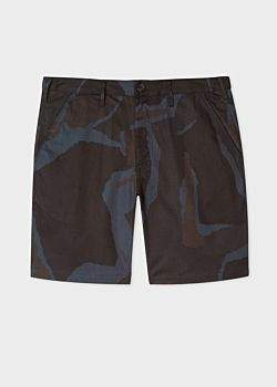 Paul Smith Men's Black Camouflage Cotton Shorts