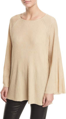 Elizabeth and James Marsali Crewneck Bell-Sleeve Oversized Tunic Top
