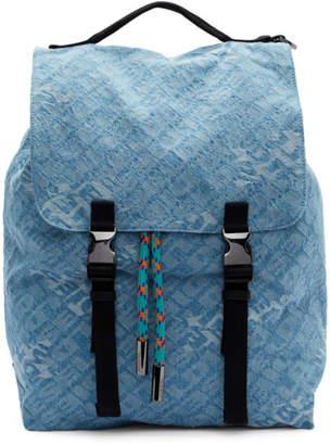 Diesel Blue Denim Volpago Backpack