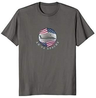 Ah-64 Apache US Flag Military Aviation T-Shirt Pilot Shirt