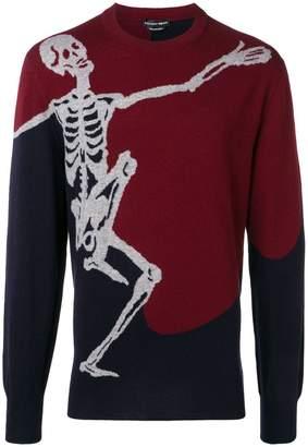 Alexander McQueen skull knit jumper