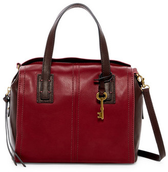 Fossil Emma Colorblock Leather Satchel $188 thestylecure.com