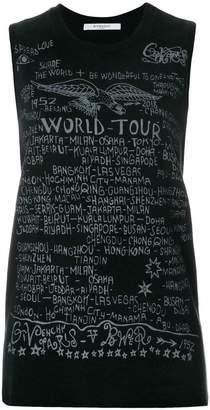 Givenchy printed sleeveless T-shirt