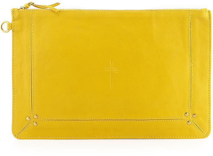 Jerome Dreyfuss Pop Zip Clutch Bag, Yellow