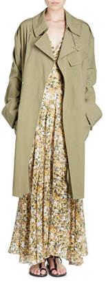 Isabel Marant Leopold Grommet-Studded Trenchcoat