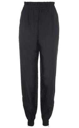 Tibi Nylon Paperbag Jogger Pant in Black