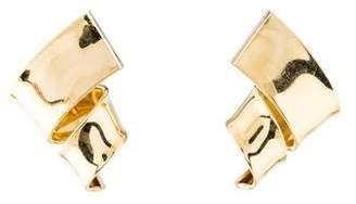 18K Twist Drop Earrings