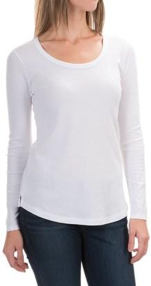 Cynthia Rowley Scoop Neck Shirt - Pima Cotton-Modal, Long Sleeve (For Women) $12.99 thestylecure.com