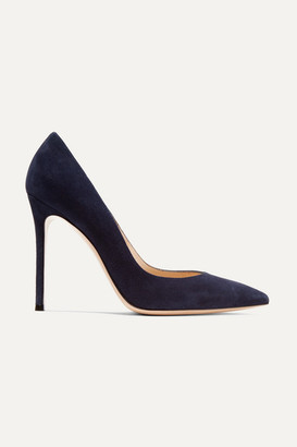 Gianvito Rossi 105 Suede Pumps - Midnight blue