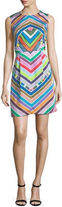 Milly Coco Rainbow Striped Twill Dress