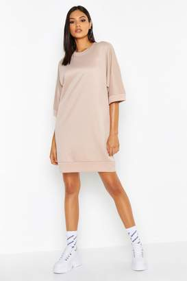 boohoo Tall Oversized Loop Back Sweat Dress