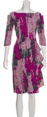 Chiara Boni Floral Knee-Length Dress