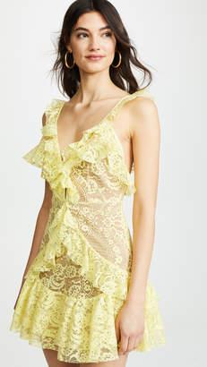 For Love & Lemons Tati Lace Ruffle Dress