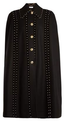 Altuzarra Serena Bead Embellished Wool Blend Cape - Womens - Black