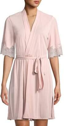 Natori Enchant Lace-Trim Short Robe