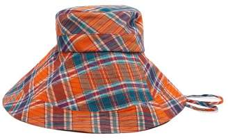 Lola Hats - Georges Checked Cotton Bucket Hat - Womens - Orange c94841b71618