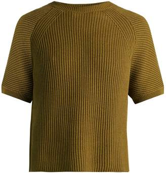 Max Mara Crossed-back cotton and wool-blend sweater