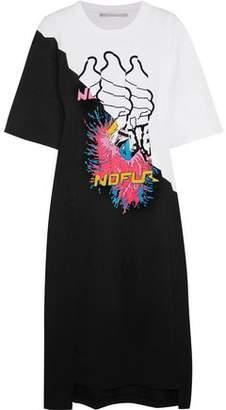 Stella McCartney Pintucked Printed Cotton-Jersey Midi Dress