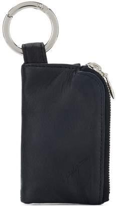 Yohji Yamamoto zipped charm wallet
