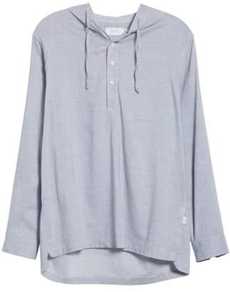 Onia Kai Havana Stripe Pullover Hooded T-Shirt