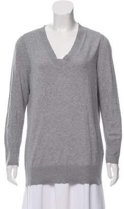 Rag & Bone Rib Knit-Trimmed V-Neck Sweater
