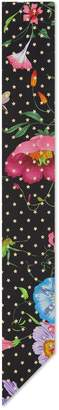 Gucci Silk neck bow with Flora star print
