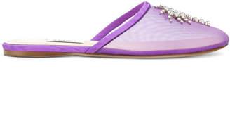 Gina embellished mesh slippers