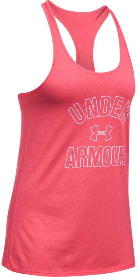 Under Armour Women's Under Armour Wordmark Racerback Graphic Tank
