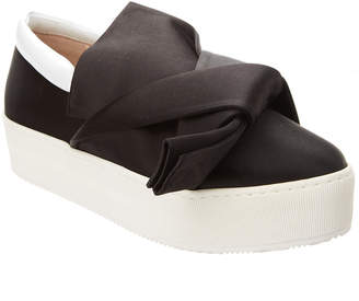 N°21 N21 Satin Bow Slip-On Platform Sneaker