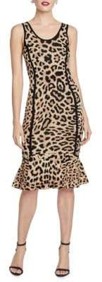 Rachel Roy Nanette Leopard Print Fit & Flare Dress