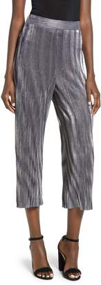 Love, Fire Metallic Mini Pleat Gaucho Crop Pants